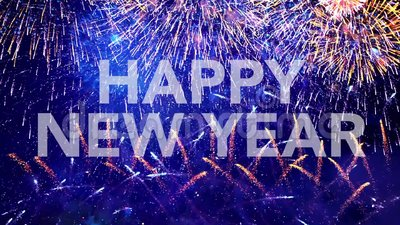 Happy New Year, greeting card. Card, congratulation, felicitation stock video