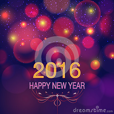 Happy New Year 2016 Stock Vector