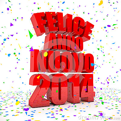 Happy New year 2014 in italian languages
