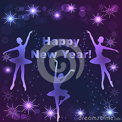 Free Happy New Year Lettering Greeting Card Royalty Free Stock Photography - 80802397