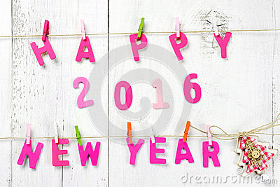 Happy New Year 2016 Letters On Wooden Texture Stock Photo   Image gOkQwpLb