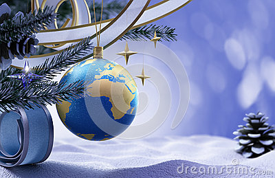 Happy New Year and Merry Christmas background Stock Photo