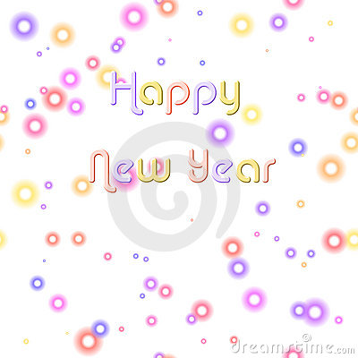 Happy New Year & Pastel Bubbles