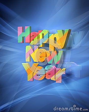 Happy New Year Rendering