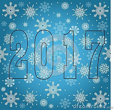 Happy New 2017 Year. Seasons Greetings. Snowflakes Stock Illustration ...