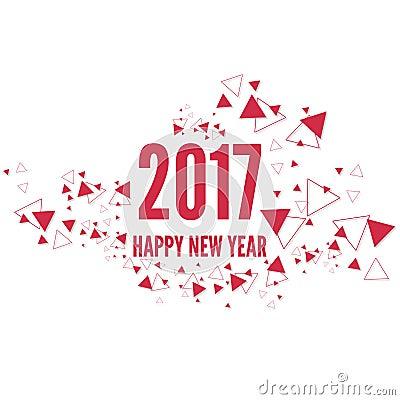 Happy New Year 2017 Theme Stock Vector - Image: 77876617