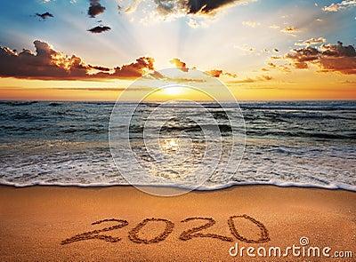 Happy New Year 2020! Stock Photo