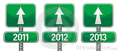 Happy new years street signs