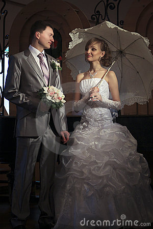 Free Happy Newly-married Couple Stock Image - 17904581