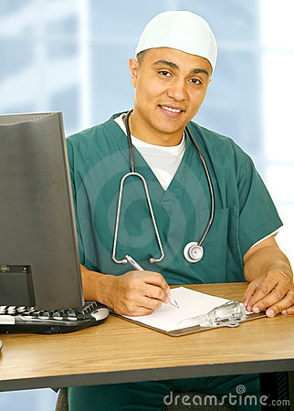 Free Happy Nurse In His Office Royalty Free Stock Photography - 5324367