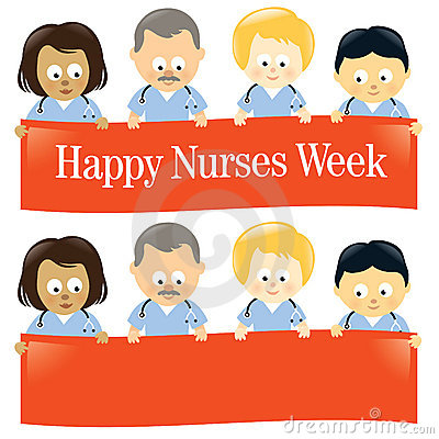 Free Happy Nurses Week Isolated Royalty Free Stock Images - 13896449