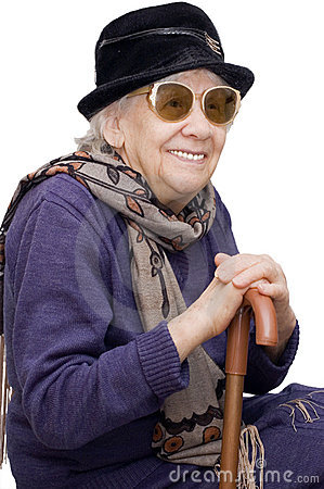 Free Happy Old Lady Stock Image - 13156161