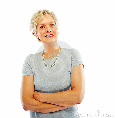 Happy Old Woman With Her Hands Folded Stock Images - Image: 8564434