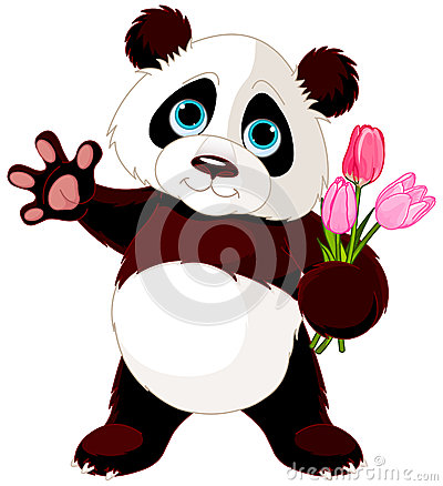 Free Happy Panda Royalty Free Stock Photo - 42763835