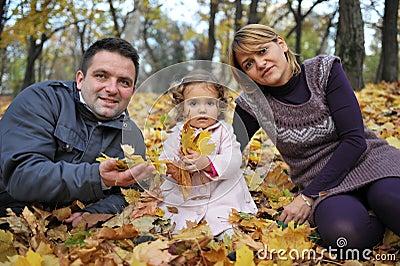 Happy parents and kid