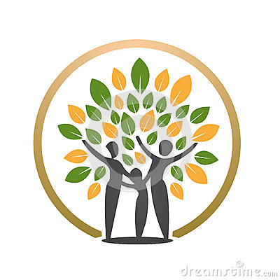 Free Happy People Tree Icon Royalty Free Stock Images - 84879269