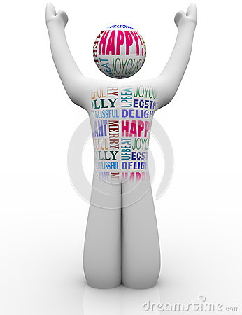 Happy Person Emtions Showing Joy Good Feelings