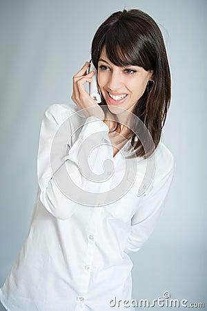 Happy phone call