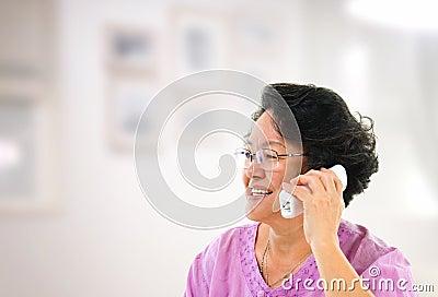 Happy phone calling