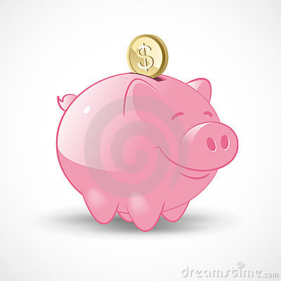Free Happy Piggy Bank Stock Photography - 21385772