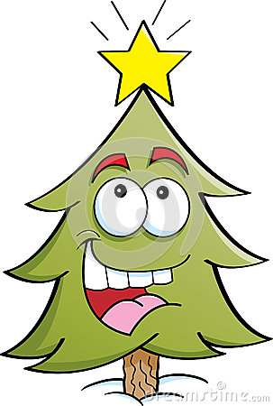 Happy pine tree