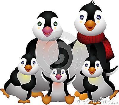 Happy pinguin family
