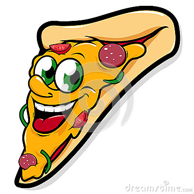 Free Happy Pizza Slice Character Stock Photography - 38182832
