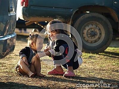 Happy Poor Children Editorial Image