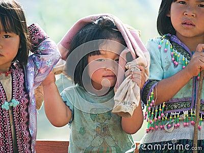 Happy Poor Children Editorial Photography