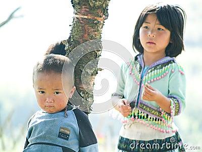 Happy Poor Children Editorial Photo