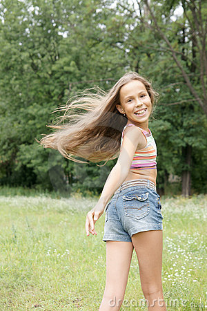Royalty Free Stock Images: Happy preteen girl
