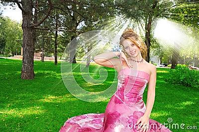 Happy pretty bride