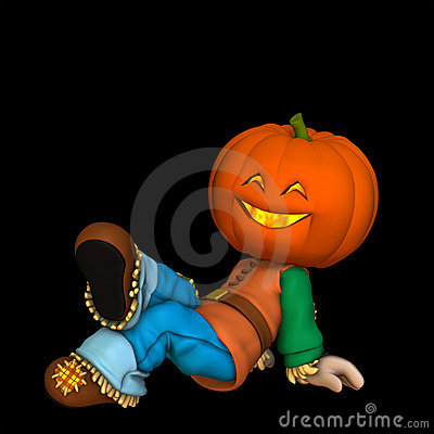 Free Happy Pumpkin Scarecrow 1 Stock Images - 3179424