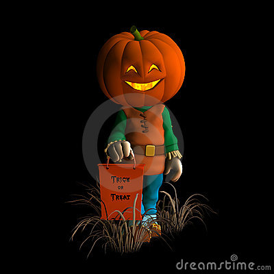 Free Happy Pumpkin Scarecrow 2 Royalty Free Stock Photos - 3179408
