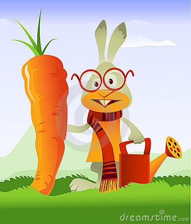 Happy Rabbit and Giant Carrot