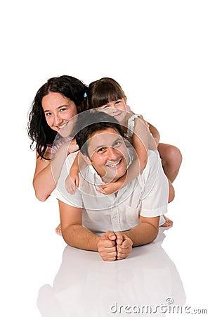 Free Happy Real Family Stock Photography - 10012452