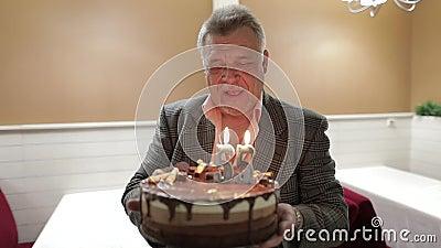 Miraculous Old Man Birthday Cake Stock Footage Videos 131 Stock Videos Personalised Birthday Cards Veneteletsinfo