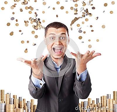 Happy rich businessman