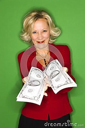 Happy Rich Woman