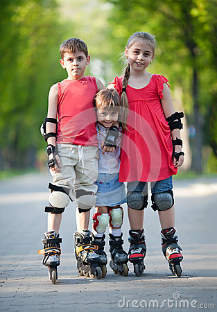 Happy rollerbladers