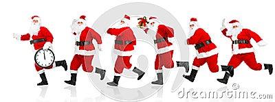 Happy running Christmas Santas