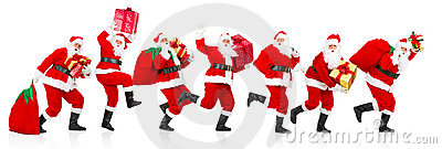 Happy running Christmas Santas