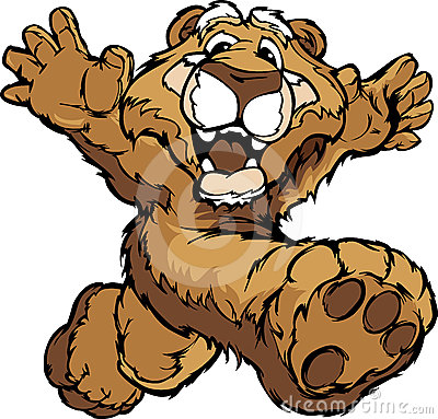 Happy Running Cougar or Mountain Lion