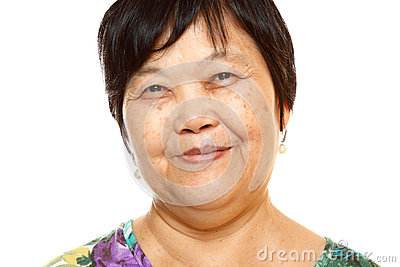 Happy 60s Senior Asian Woman