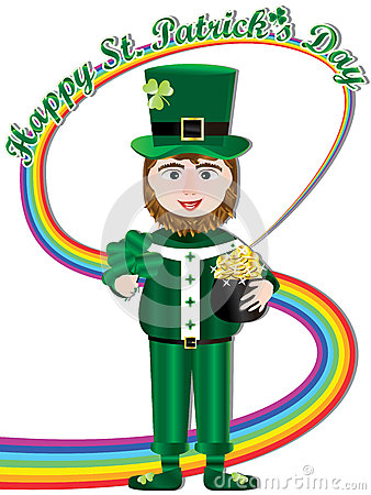 Happy Saint Patricks Day Rainbow Card_eps