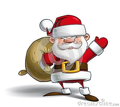 Free Happy Santa AI Royalty Free Stock Image - 57154596