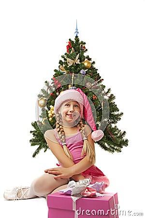 Happy Santa girl