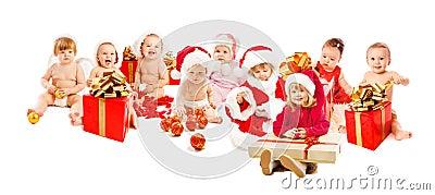 Happy santa kids