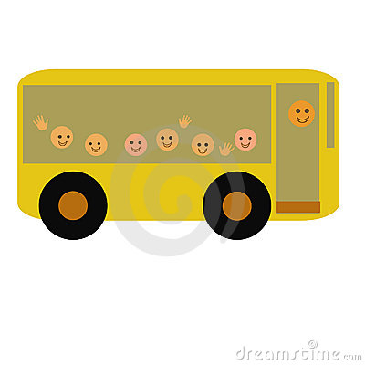 Happy school bus