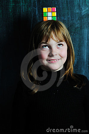 Happy school girl Editorial Photo